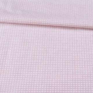 Котон білий в червону пунктирную клітку ш.150 оптом