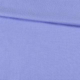 Коттон жаккардовый голубой в светлые мелкие соты ш.150 оптом