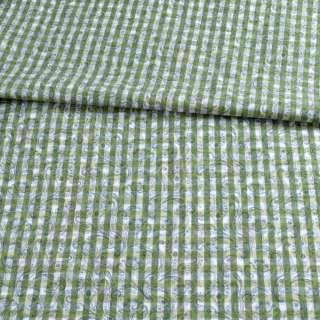 Котон білий в зелену клітку і огірки ш.145 оптом