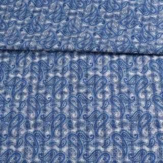 Котон білий в синю клітку і огірки ш.150 оптом