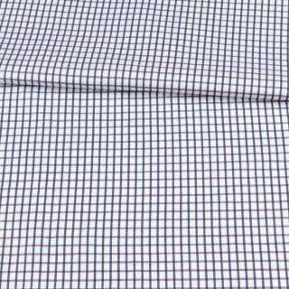 Котон білий в коричнево-синю клітку ш.150 оптом