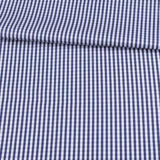 Котон білий в синю клітку 5 мм ш.155 оптом