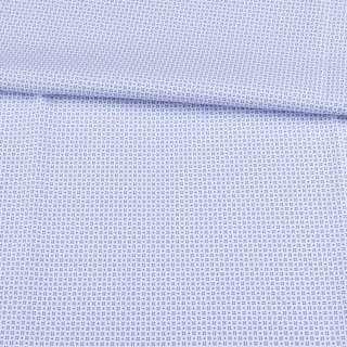 Котон білий в невеликий блакитний візерунок ш.150 оптом