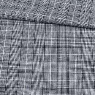 Шотландка черно-белая ш.156 оптом