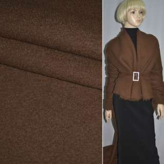 ткань пальтовая коричневая однотонная ш.150 оптом