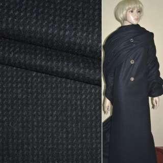 """ткань пальт. черная с фиолет. мелк. штрихами """"PHILIPР"""" Германия ш.152 оптом"""