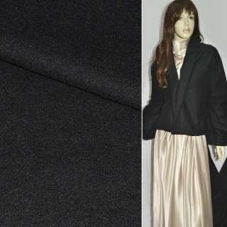 Ткань пальтовая черная ш.150 оптом