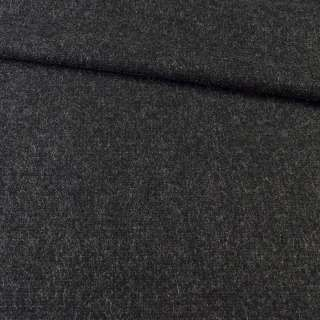 Ткань пальтовая черная с серыми штрихами, ш.151 оптом