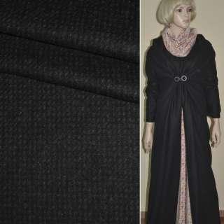 """Ткань пальтовая черная с коричневыми мелкими штрихами """"PHILIPР"""" Германия ш.151 оптом"""