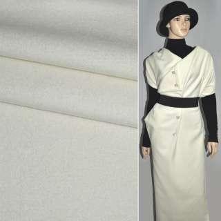 Ткань пальтовая молочная ш.150 оптом