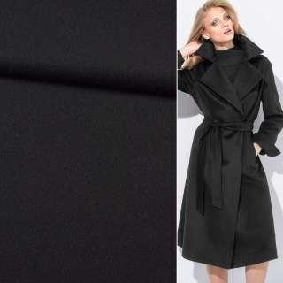 Тканина пальтова BOSS чорна, ш.155 оптом