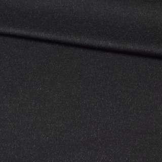 Тканина пальтова PIACENZA BOGNER чорна з білими ворсинками, ш.150 оптом
