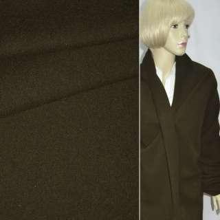 Ткань пальтовая темно-болотная однотонная ш.150 оптом