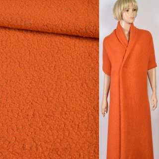 """Трикотаж пальтовый """"GERRY WEBER"""" ворсовый оранжевый, ш.119 оптом"""