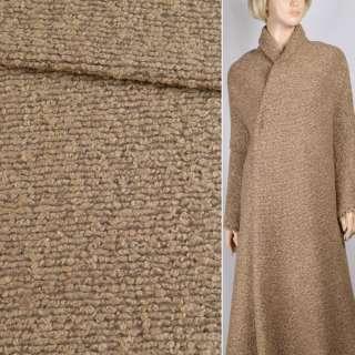 """Трикотаж пальтовый """"GERRY WEBER"""" бежево-коричневый, ш.148 оптом"""
