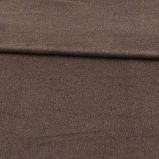 Кашемир пальтовый коричнево-серый ш.150 оптом