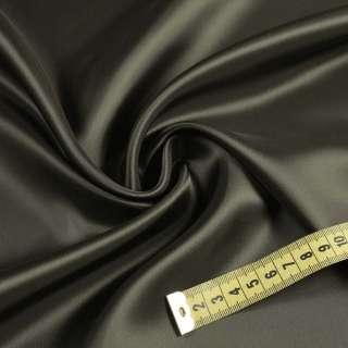 Вискоза атласная саржевая серо-коричневая, ш.140 оптом