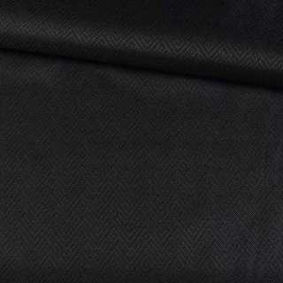 Вискоза жаккардовая ромбы черная, ш.155 оптом