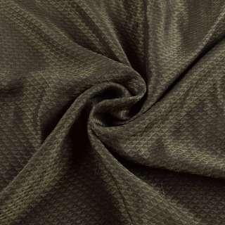 Вискоза подкладочная оливковая, жаккардовые треугольники, ш.145 оптом