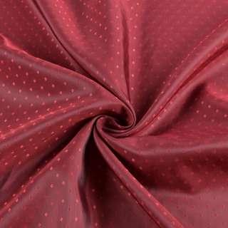 Вискоза подкладочная бордовая хамелеон в красные ромбы, ш.145 оптом