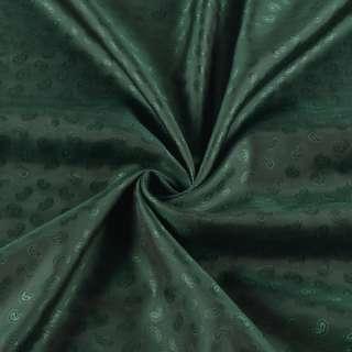 Вискоза подкладочная зеленая темная в жаккардовые огурцы,ш.140 оптом