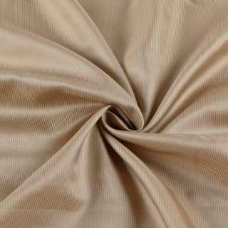 Віскоза підкладкова бежева в золотисту смужку, ш.146 оптом