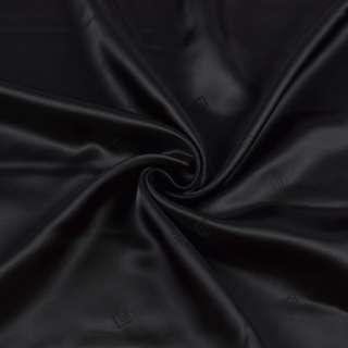 Віскоза підкладкова з логотипом чорна, ш.140 оптом
