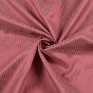Вискоза подкладочная красная в золотистую полоску, ш.136 оптом
