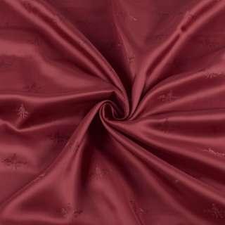 Вискоза подкладочная бордовая с логотипом, ш.140 оптом