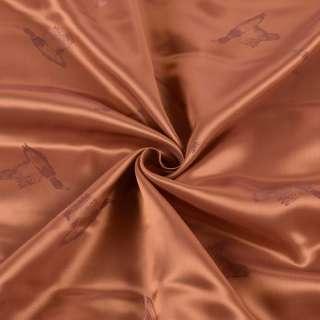 Віскоза підкладкова коричнева, дикі качки, ш.144 оптом