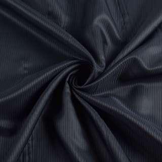 Віскоза підкладкова синя темна смужка, ш.145 оптом
