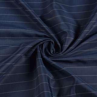 Віскоза підкладкова синя в білу смужку, ш.145 оптом