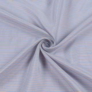 Вискоза подкладочная в бежево-голубую полоску, ш.141 оптом