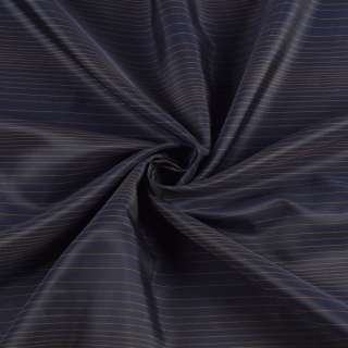 Віскоза підкладкова синя в тонку бежеву смужку, ш.145 оптом