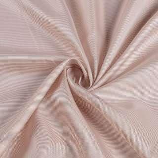Віскоза підкладкова молочна в тонку коричневу смужку, ш.140 оптом