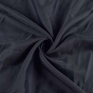 Віскоза підкладкова синя в тонку сіру смужку, ш.145 оптом