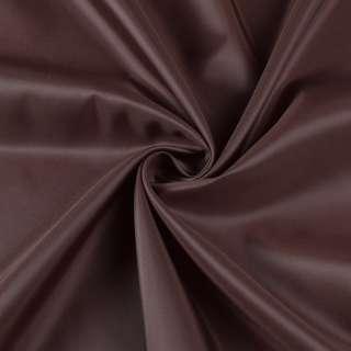 Полиэстер подкладочный коричневый, ш.155 оптом