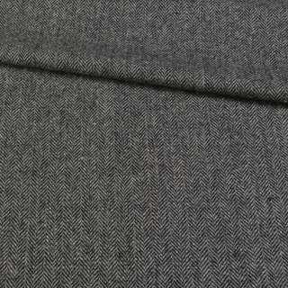 Твид Becker елочка черно-серый, ш.153 оптом