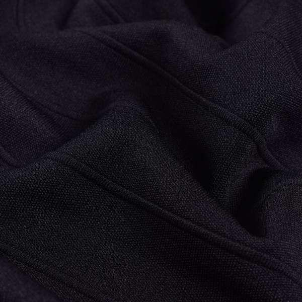 Французский трикотаж, рубчик 3 см, черный ш.154 оптом
