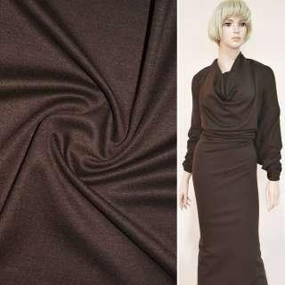 Трикотаж костюмний коричневий ш.150 оптом