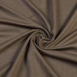 Трикотаж вискозный коричневый светлый, ш.170 оптом