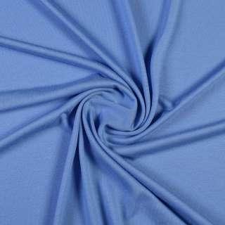Трикотаж віскозний стрейч блакитний волошковий, ш.150 оптом