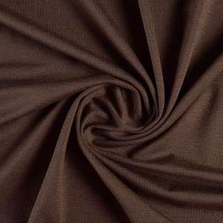 Трикотаж віскозний з еластаном коричневий темний ш.155 оптом