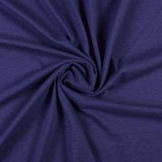 Трикотаж хлопковый стрейч синий темный, ш.156 оптом