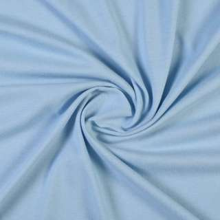 Трикотаж хлопковый стрейч голубой, ш.160 оптом