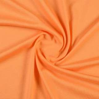Трикотаж хлопковый оранжевый мандариновый, ш.148 оптом