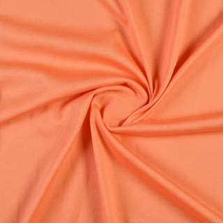 Трикотаж хлопковый оранжевый, ш.150 оптом
