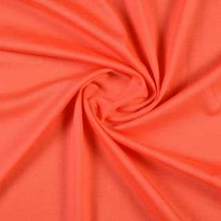 Трикотаж хлопковый оранжевый морковный, ш.150 оптом