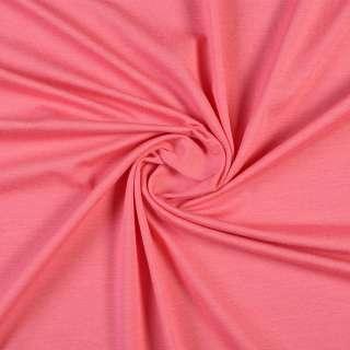 Трикотаж хлопковый стрейч розовый темный, ш.154 оптом