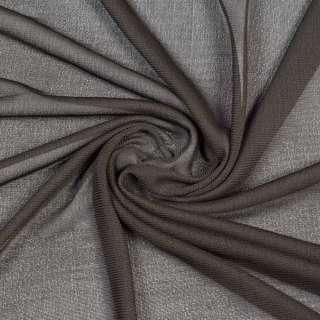 Трикотаж поліестер коричневий темний, ш.145 оптом